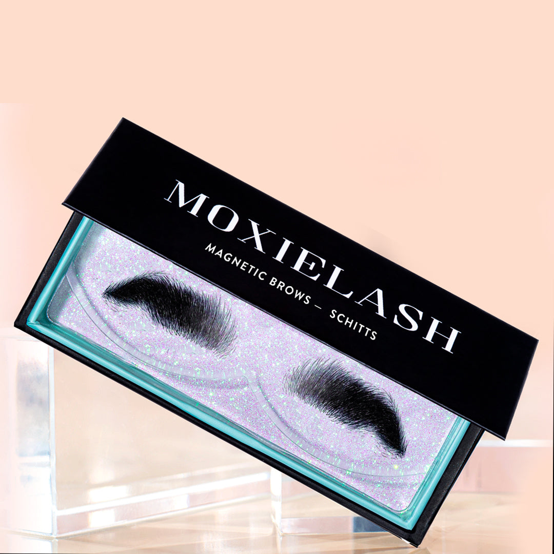 Schitt's creek and Danny Levy magnetic brows from MoxieLash.