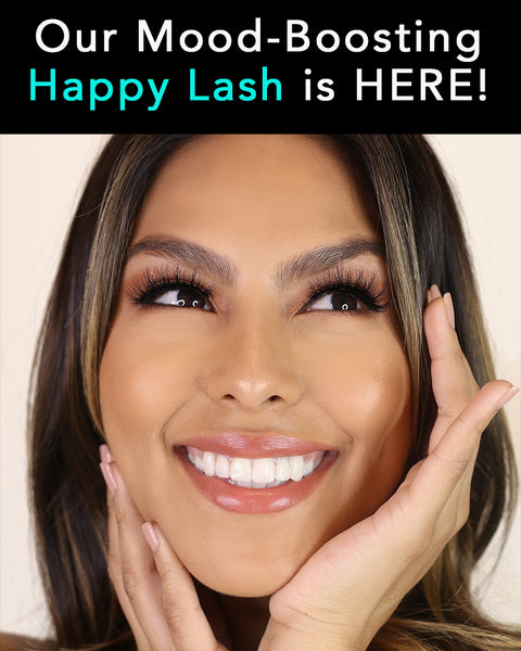 Our new mood-boosting happy lash is here! Gorgeous for a long, full, and 3D lash look.