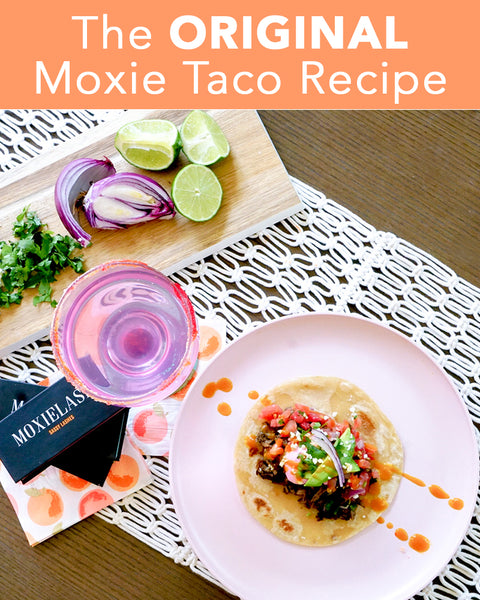 A pink, pretty, and easy Moxie Taco recipe for Cinco de Mayo that both pretty, and delicious!