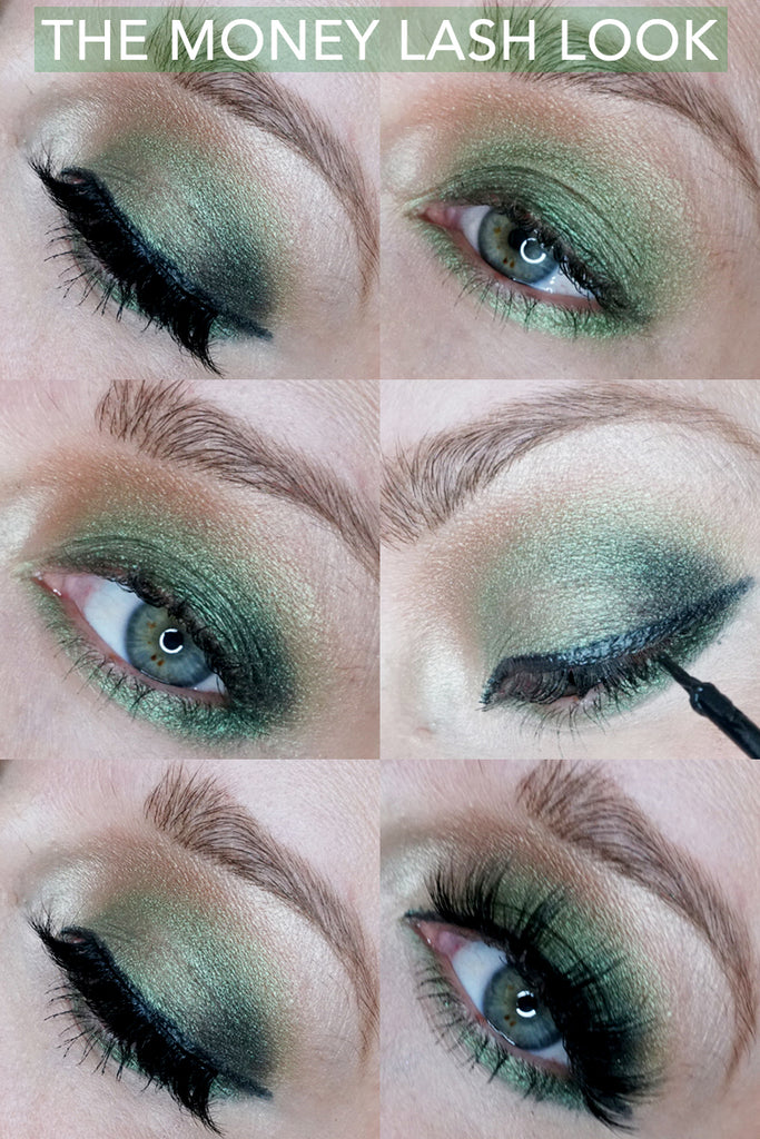 New money magnetic eyelash tutorial is here with a step by step makeup tutorial with green eyeshadow.