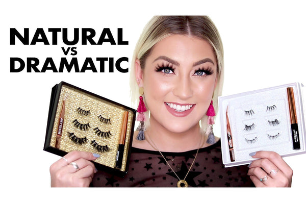 Natural Vs. Dramatic Lash Kits are perfect to level up your lash game in just minutes!