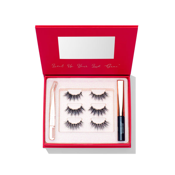 Naughty Lash Kit for MoxieLash Magnetic Eyelash Kit is for a bold, glam, and slightly naughty look.