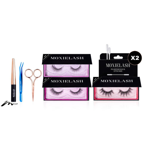 Day to night bundle featuring Ten Magnet Lashes from MoxieLash.