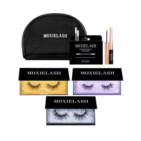 MoxieLash Night Kit Best Magnetic Eyeliner and False Eyelash System.