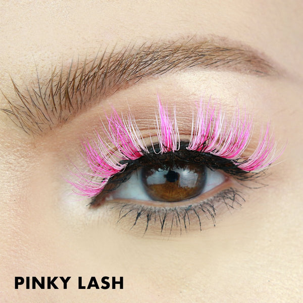 Bright pink false lash style from MoxieLash is perfect for Halloween!