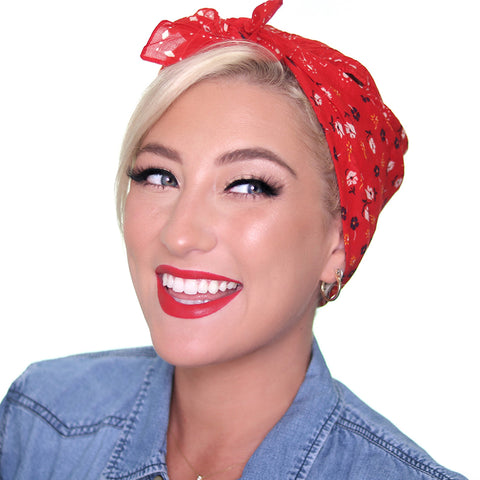 Here is your finished Rosie the Riveter makeup and hair tutorial!