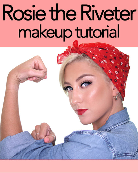 How to get the Rosie the Riveter makeup look and hairstyle!