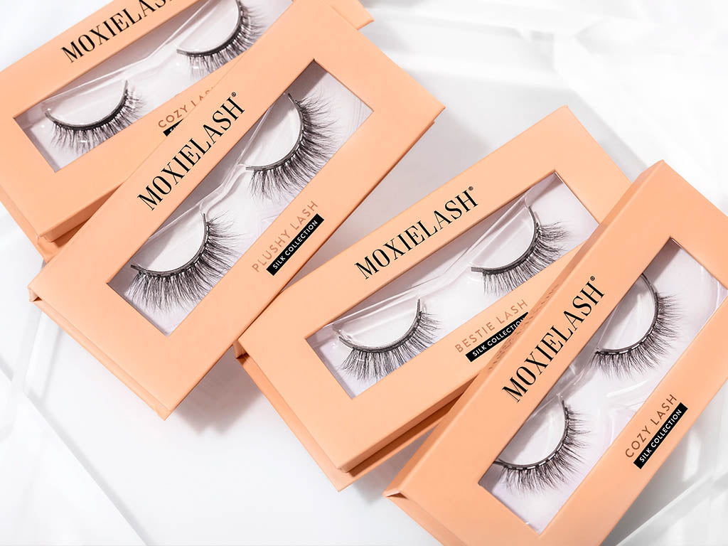 Silk lashes in feminine and natural styles.