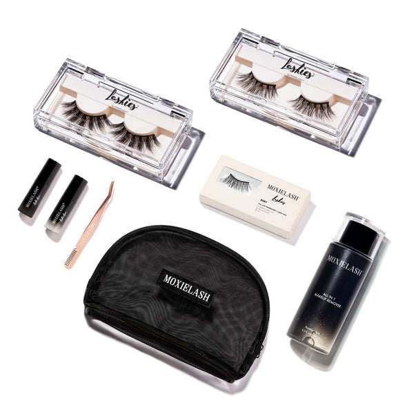 Instantly get the lash look you've always wanted using Lashie no glue, no magnet, clear eyeliner lash system!
