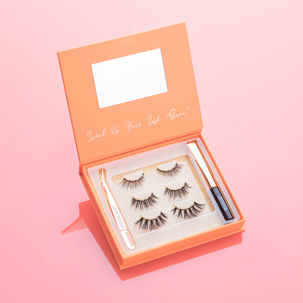 Wifey Kit is a collection of tapered lashes that are perfect for a cat eye.
