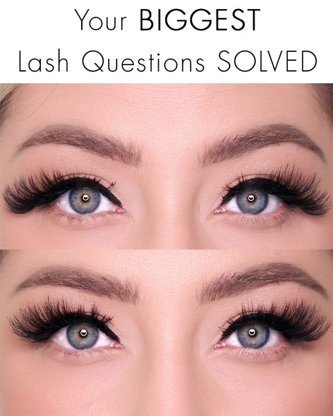 Today we're answering all of your biggest lash questions and how to solve them!