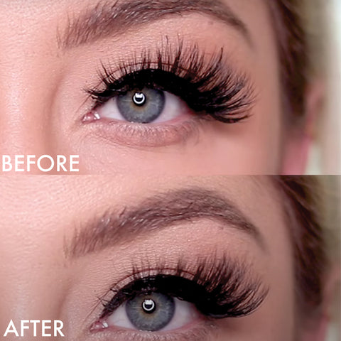 Here is how to trim your magnetic lashes and the before and after or what they look like.