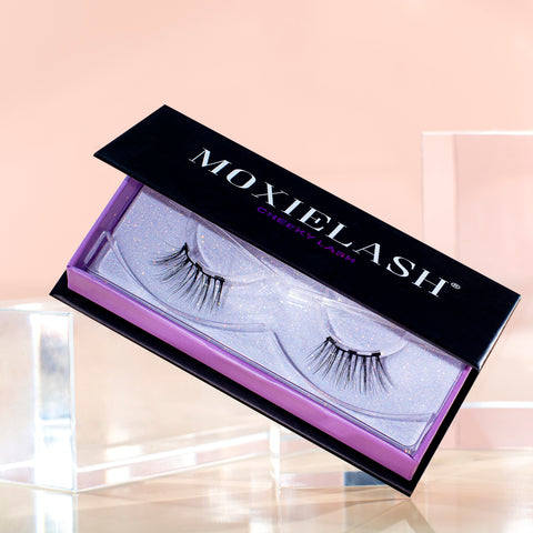 Check out Cheeky Lash, one of the most natural magnetic fake lash styles there is.