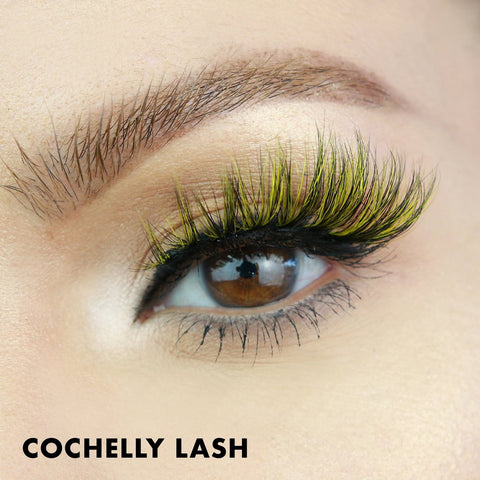 Cochelly is a yellow and black magnetic lash style that is perfect for Halloween!