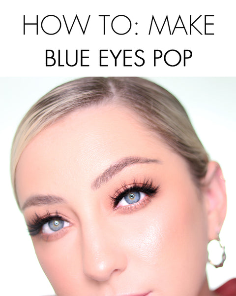 Here's how to make blue eyes pop with eyeshadow colors and lashes from MoxieLash!