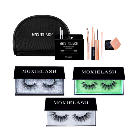 Give the gift of a holiday lash kit from moxielash!