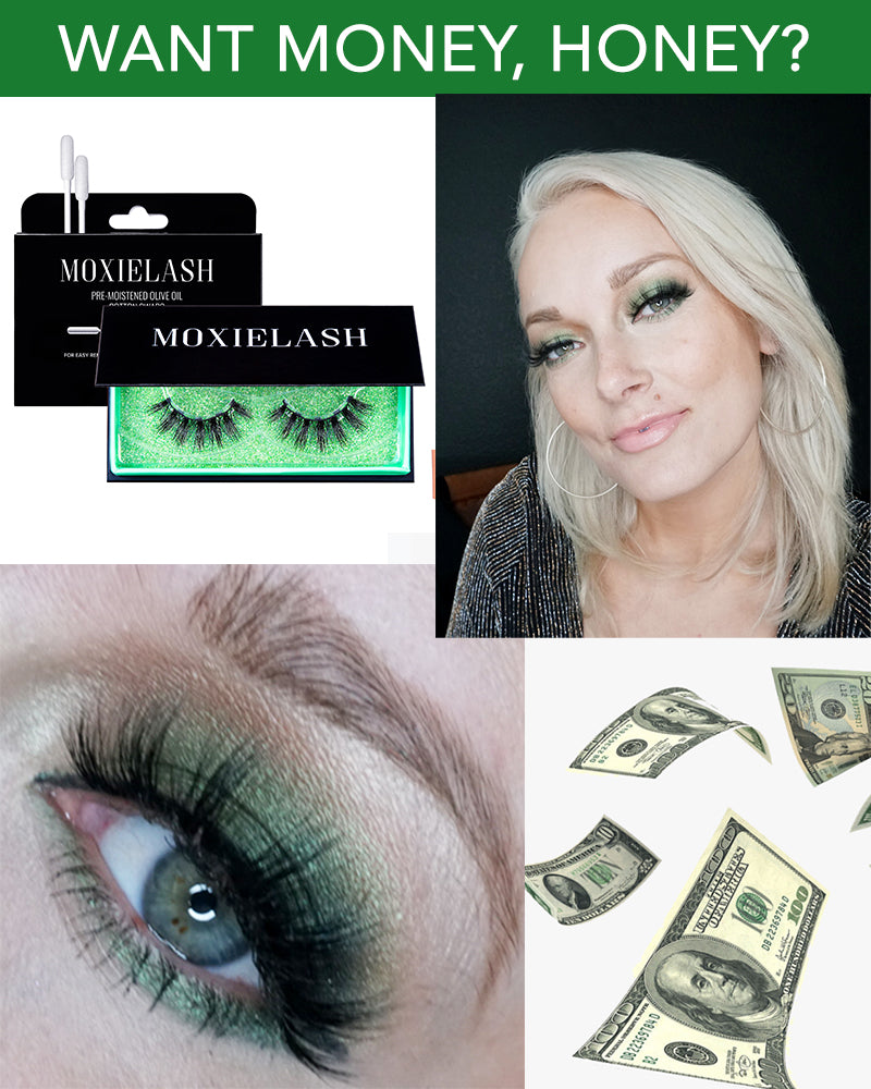 MoxieLash Money Magnetic Eyelash is here with a step-by-step makeup tutorial. Check out this green eye makeup look.