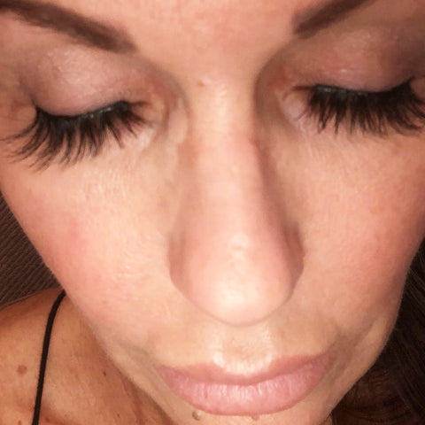Real MoxieLash customer wearing Sassy Lash
