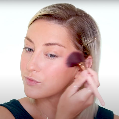 Apply blush to the apples of your cheeks!