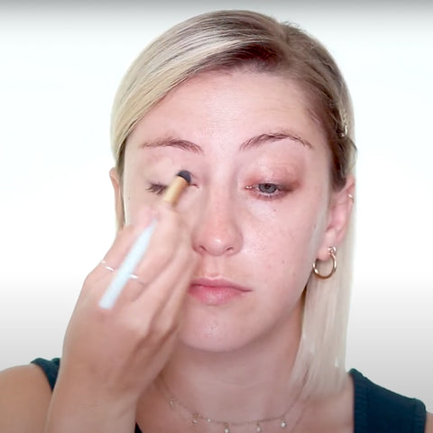 Then apply concealer to the right places on your face.