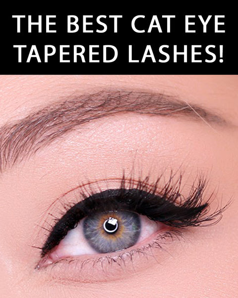 Here are the best cat eye tapered false lashes with easy application.