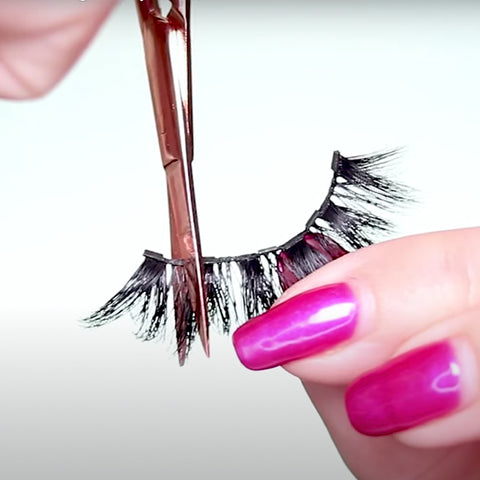Here is how to trim magnetic lashes using MoxieLash scissors and tips.