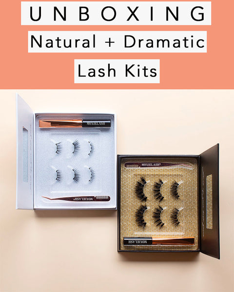 Unboxing the natural lash kit and the dramatic lash kit to see how they compare!