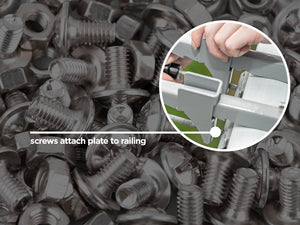 Replacement screws for screen clamps
