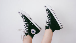 Roseylicious Life mental health blog - In the beginning blog post - black chucks pic