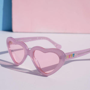 Betty and Veronica Cheryl Sunnies by A Fashion Nerd - Lilac Glitter - sunglasses - Betty and Veronica - Roses N Retro