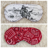 Retro Vintage Style Cowboy Bandana Sleep Mask - Red/White/Black - eyemask - Scarlett's Cozy Cottage - Roses N Retro