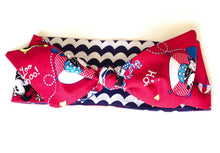 Captain Minnie Reversible Retro Rockabilly Headband - Red - headband - Buxom Doll - Roses N Retro