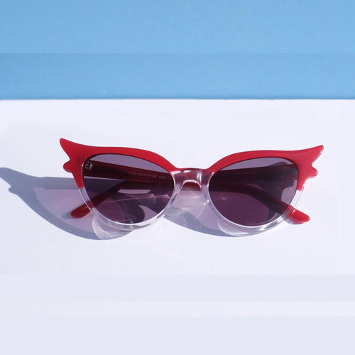 Betty and Veronica Sabrina Sunnies by A Fashion Nerd - Red/Clear - sunglasses - Betty and Veronica - Roses N Retro