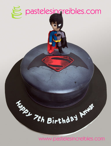 Pastel de Batman y Superman
