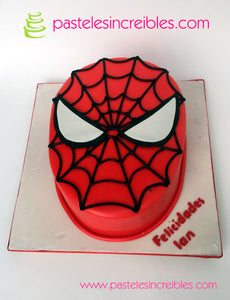Pastel de Cara de Spiderman
