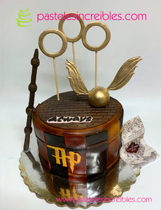 Pastel de Harry Potter con Aros
