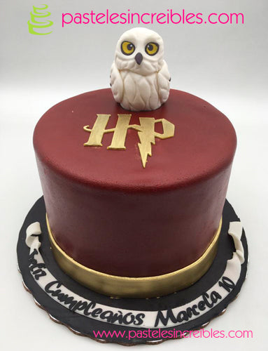 Pastel de Harry Potter con Búho