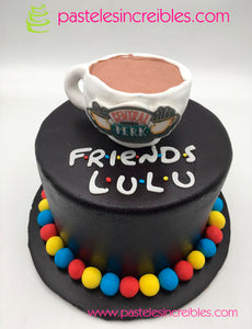 Pastel de Friends con Taza