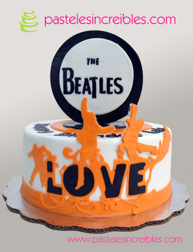 Pastel de los Beatles Love