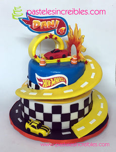 Pastel de Hot Wheels