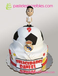 Pastel del Real Madrid con CR9