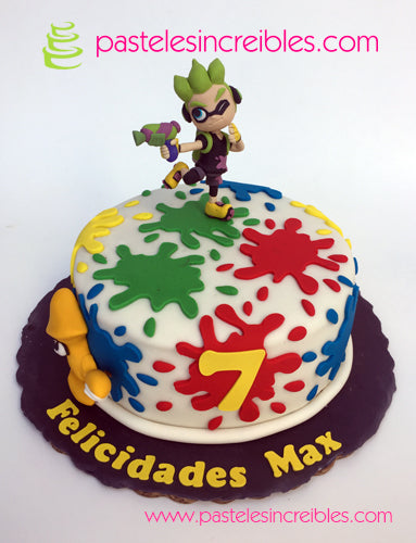 Pastel de Splatoon