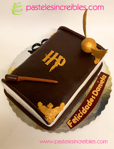 Pastel de libro de Harry Potter