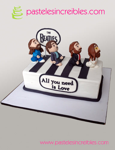 Pastel de los Beatles