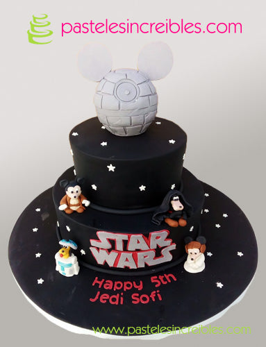 Pastel de Mickey Star Wars