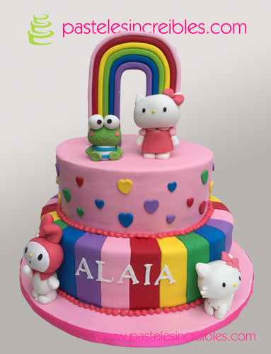 Pastel de Hello Kitty y amigos