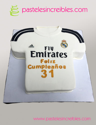 Pastel de Playera del Real Madrid