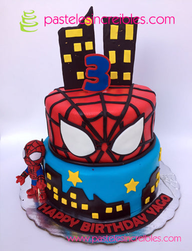 Pastel de Spiderman
