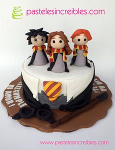 Pastel de Harry Potter y sus amigos