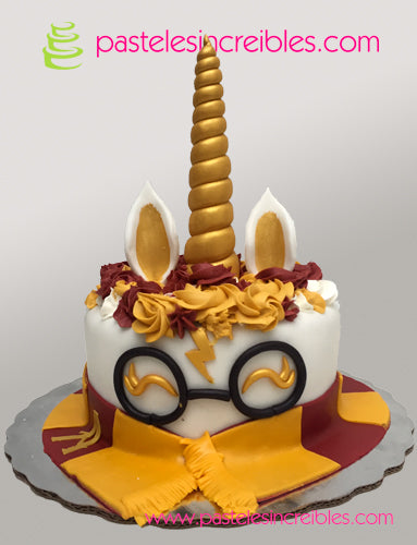 Pastel de Unicornio Harry Potter